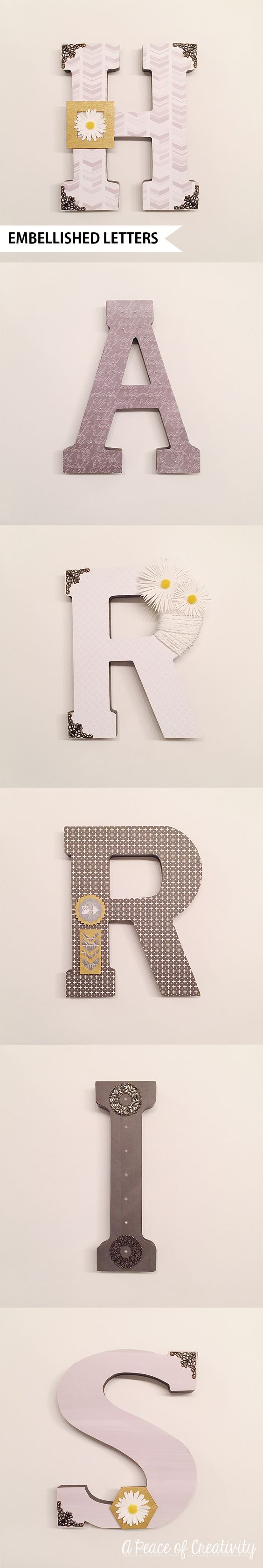 Embellished Letters   A Peace of Creativity