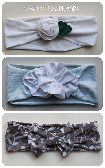 DIY t-shirt headbands...