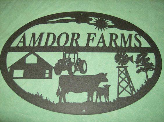 Customized Farm Welcome Sign via Etsy
