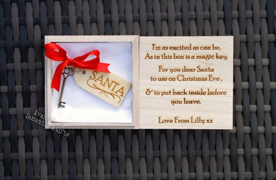 Personalised Santa's Magic key in wooden box  by SamanthaKGifts