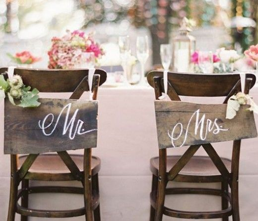 DIY Wedding Table Decoration Ideas | Bride n Groom Wedding Chairs | Click Pic for 20 Easy DIY Wedding Decorations