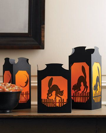 halloween lantern paper and vellum