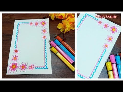 Floral Borders For Projects Simple Border Design On Paper