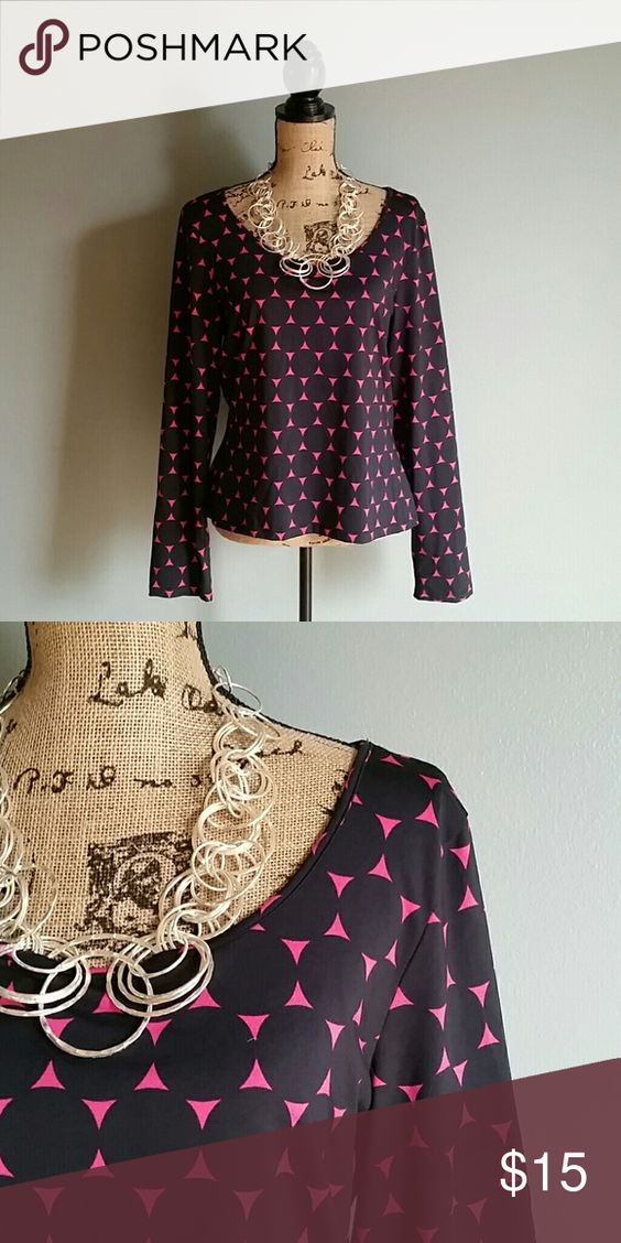 Hot pink and black top Super stylish. Polyester. I.N.C. international Concepts  Tops Blouses