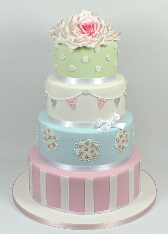 Inspired by Cath Kidston Wedding Cake 07917815712 www.facebook.com/fancycakeslinda www.fancycakesbylinda.co.uk