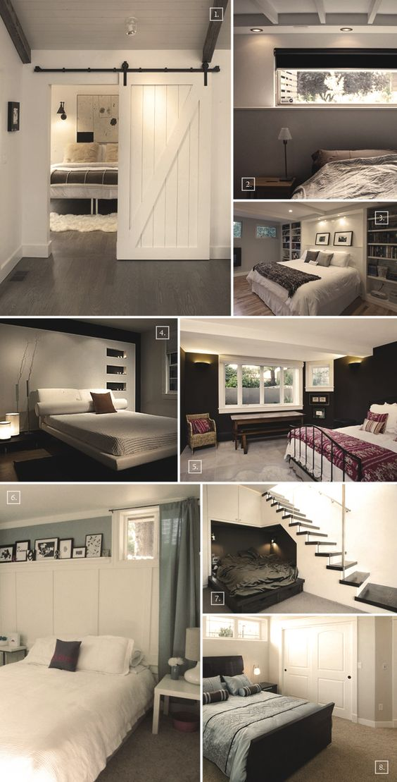 Turning a basement into a bedroom designs and ideas - Basement ideas for small spaces pict ...