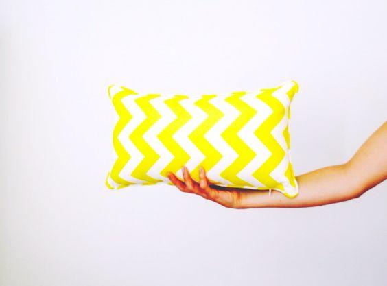 Yellow zigzag cushion // KNICK KNACK Blog findknickknack.blogspot.com.au