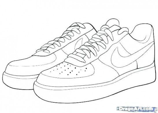 air force one nike coloring page
