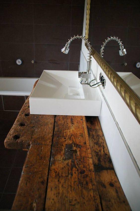 Waschtisch aus Werkbank   inn works de   G u00e4ste WC   Pinterest   Tops
