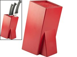Taylors Eye Witness Red Universal Bristle Knife Block