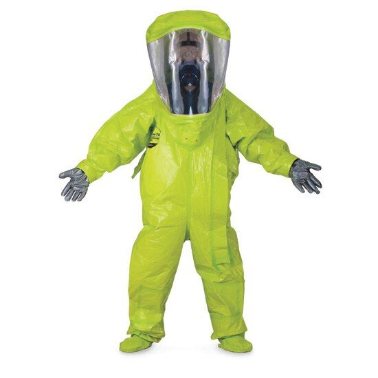 A Radiation Suit Provides Protection From Radioactive Enviorments As Dress As Total Enviornment In 2021 Protective Gloves Graves Disease Suits