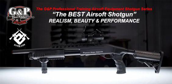 G&P M870 Goliath High Power Airsoft Shotgun - Magpul PTS UBR Stock / Dark Earth, Airsoft Guns, Airsoft Shotguns - Evike.com Airsoft Superstore