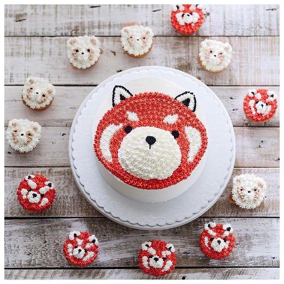 ... birthday birthday cakes birthday ideas red panda party panda cakes red