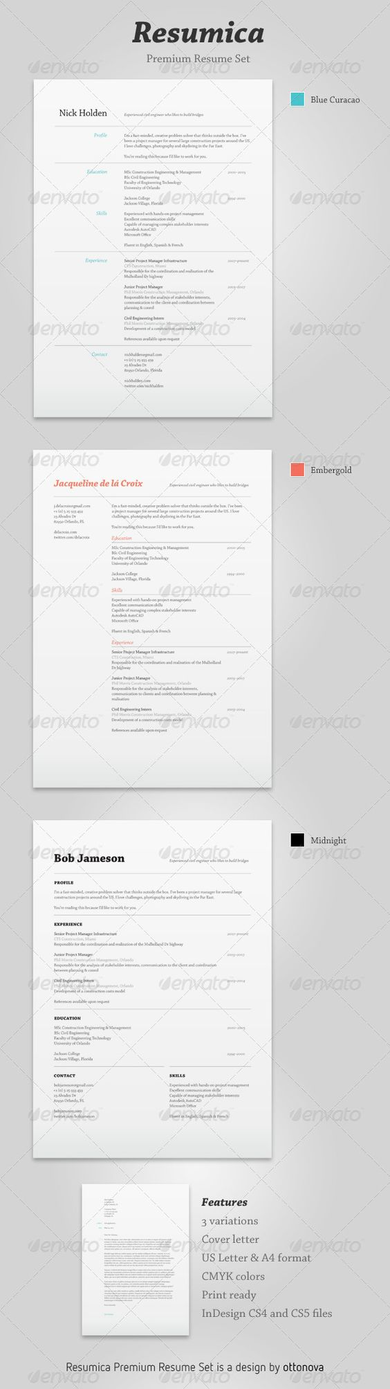 resumica resume set adobe creative resume and resume cv resumica resume set resumes stationery here graphicriver