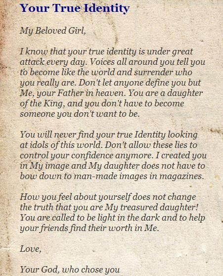 Dear Daughter This Is Why You Need To Write Your Own: Letter From God His Daughters - Quoteko.com