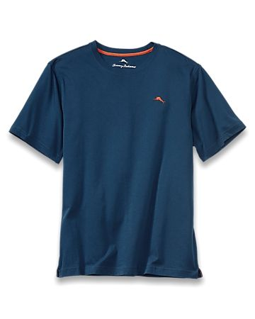 Get back to the basics of comfort with this luxe tee. Made from a blend of cotton and modal, it offers superior softness for relaxing in bed, lounging on the couch or daydreaming in your hammock. An embroidered sailfish adorns the left chest. 60% cotton, 40% modal. Machine wash. Do not iron decoration or embroidery. Tagless collar. Imported. 216900.