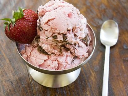 Strawberry Cheesecake Ice Cream - getting ready for summer!