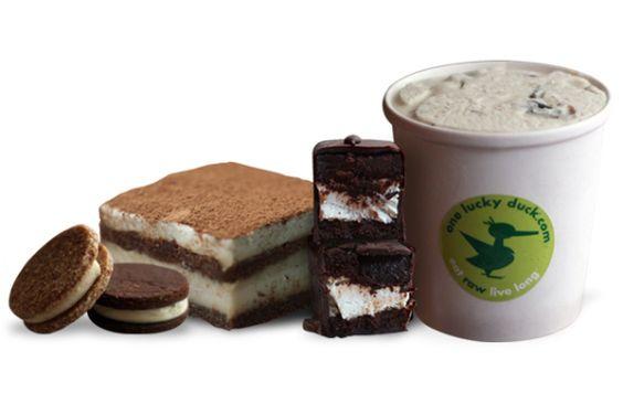 Raw, vegan ice cream, moon pies, cookie sandwiches, mallomars ...
