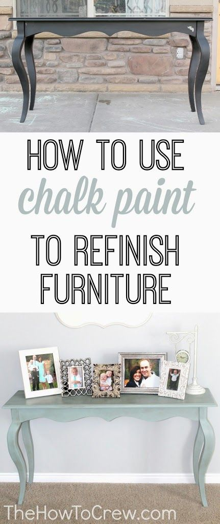 How To Paint Furniture Using Chalk Paint | The How-To Crew ASCP Duck Egg Blue