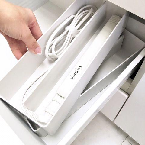K Style 無印良品でヘアアイロンの収納 洗面台にぴったり スッキリ