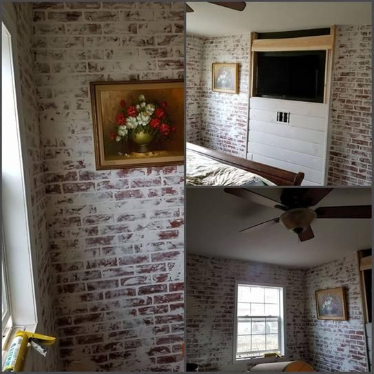 1 4 In X 48 In X 96 In Kingston Brick Hardboard Wall Panel 278844 The Home Depot Brick Wall Paneling Fake Brick Wall Faux Brick Wall Panels