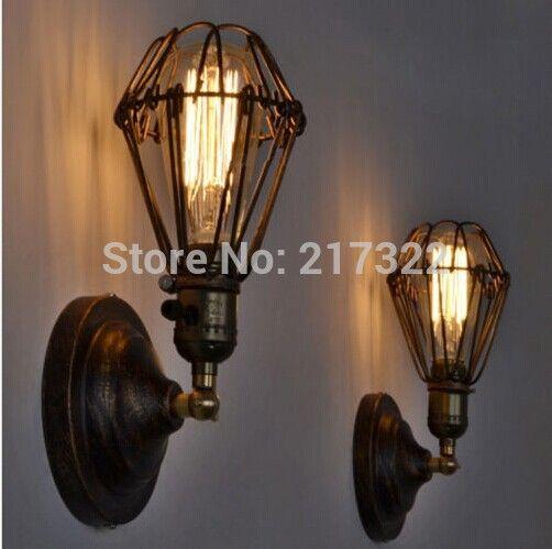 Pas cher edison vintage applique murale lustre rustique for Lampes d interieur