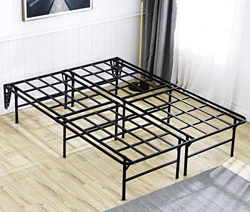 New Tatago 3000lbs Max Weight Capacity 16 Inch Tall Heavy Duty Platform Bed Frame 2 Set Headboard Bracket Mattress Foundation Non Slip No Noise No Box Spring Need Saving Money Queen