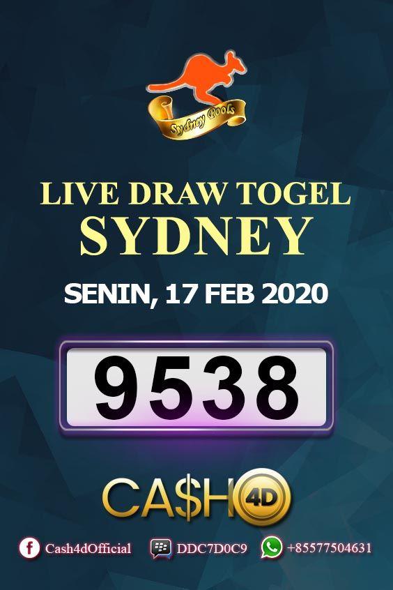 Result Sydney Senin 17 Februari 2020 Di 2020 Pengetahuan Sydney