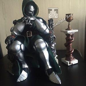 1 4 Scale Dr Doom Doctor Doom on Throne Statue Perfect Recast Custom Made   eBay