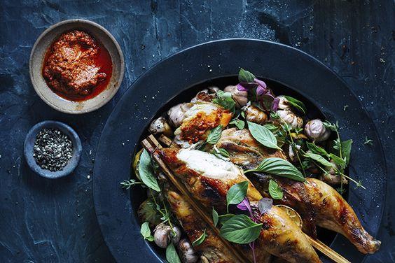 Poulet au basilic et au chili