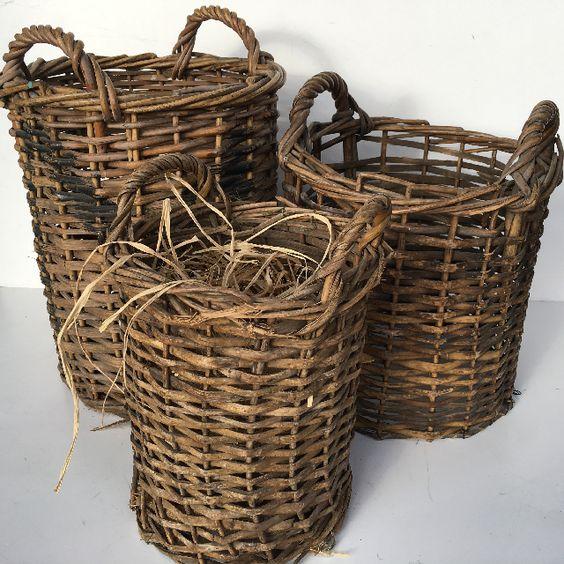 Narrow Wicker Baskets $15 - $10