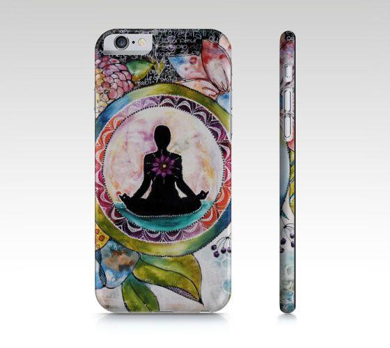 Étui I Pad mini, coque IPhone, étui Samsung yoga et  fleurs multicolores par Marika Lemay mixed media pour protéger et embellir un téléphone de la boutique MarikaLemayArtiste sur Etsy