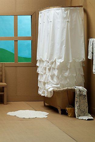 Bustle shower curtain, for my shabby chic decor.