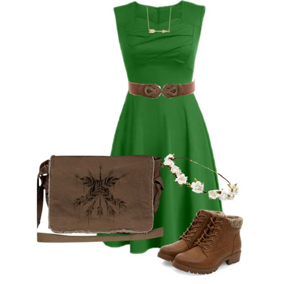 Merida Inspired Disney Bound by karina-boss on Polyvore featuring Crawlspace Studios, Fremada and Cult Gaia