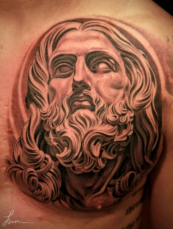 Tattoo by jun cha tattoo pinterest christ tatouage for Jun cha tattoos