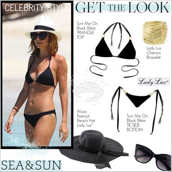 Get Nichole's Beach Look with LadyLuxSwimwear! by ladyluxswimwear on Polyvore