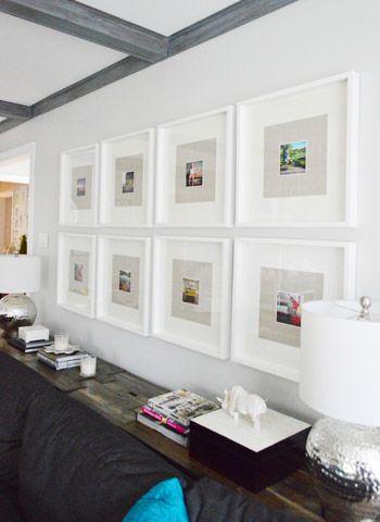 Two fun ways to use instagram photos photo walls for 5x5 frames ikea