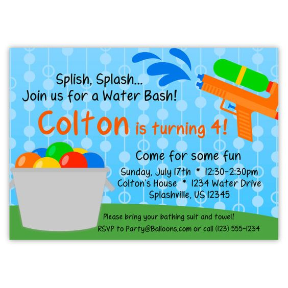 Hey, I found this really awesome Etsy listing at https://www.etsy.com/listing/189610018/water-party-invitation-blue-polka-dot