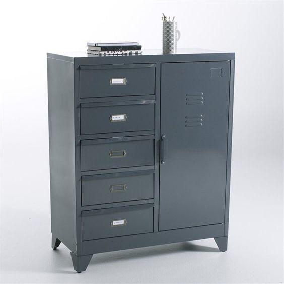 bahut m tal hiba la redoute interieurs la redoute. Black Bedroom Furniture Sets. Home Design Ideas