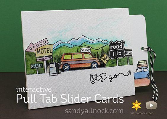 Sandy Allnock - let's go | Pull Tab Slider Cards