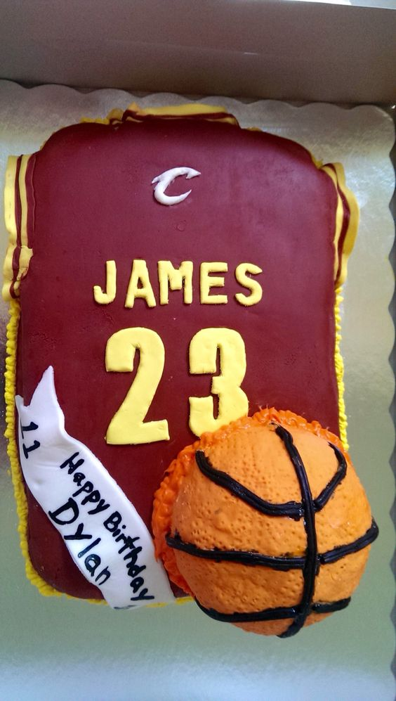 Lebron James Jersey Birthday Cake