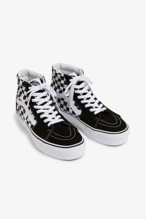 Vans sk8 hi platform, Vans, Checkered shoes