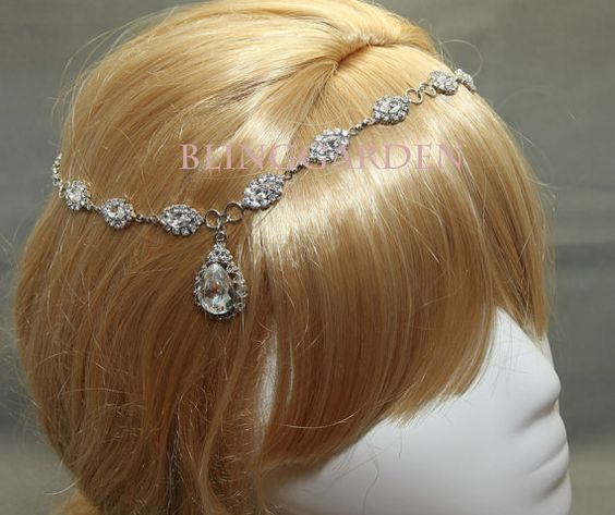 Silver Wedding Rhinestone Crystal Bridal Tiara  by blinggarden, $30.99