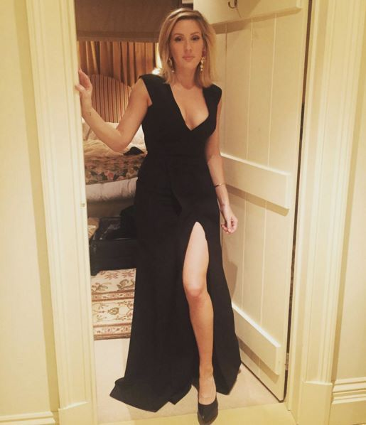 Ellie Goulding in Victoria Beckham and Dolce&Gabbana earrings