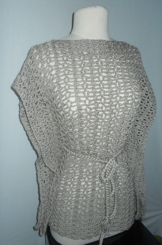 Crochet Patterns Plus Size : Crochet Top Pattern - Crochet Kimono - Plus Size Crochet - Crochet ...