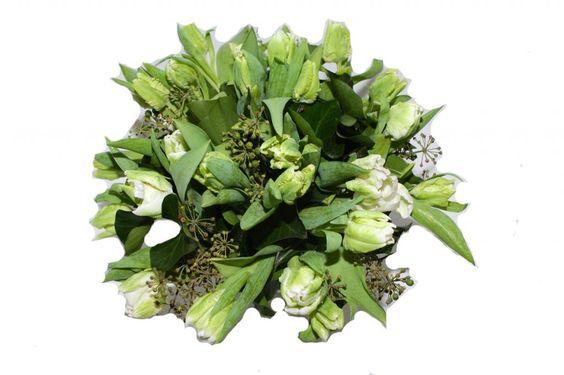 Boeket Tulp White Elegance- Tulpen witte papegaai bestellen & bezorgen - Bloemen bestellen