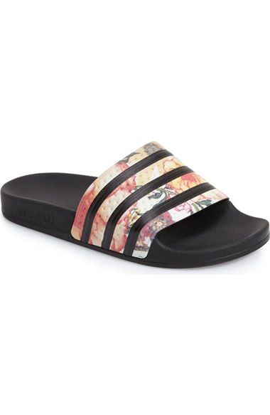 New Home  Adidas Adilette Womens Sandals In Red Pink