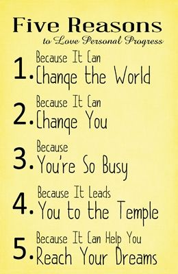 Five Reasons to Love Personal Progress yellow sm