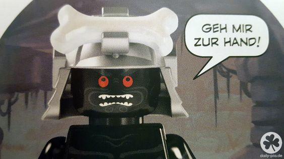 Die ideale Piñata für eine Lego Ninjago Party: der böse Lord Garmadon. Mit Bastelanleitung und Fotos zum nachbauen.