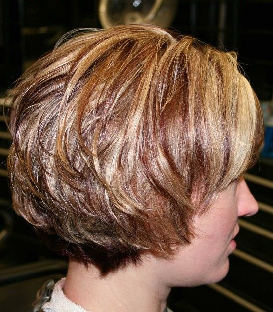 short stacked layered hair styles